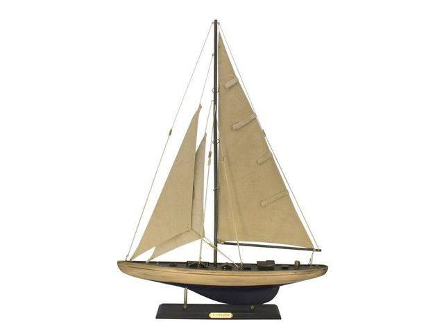 Wooden Rustic Enterprise Limited Model Sailboat Decoration 27