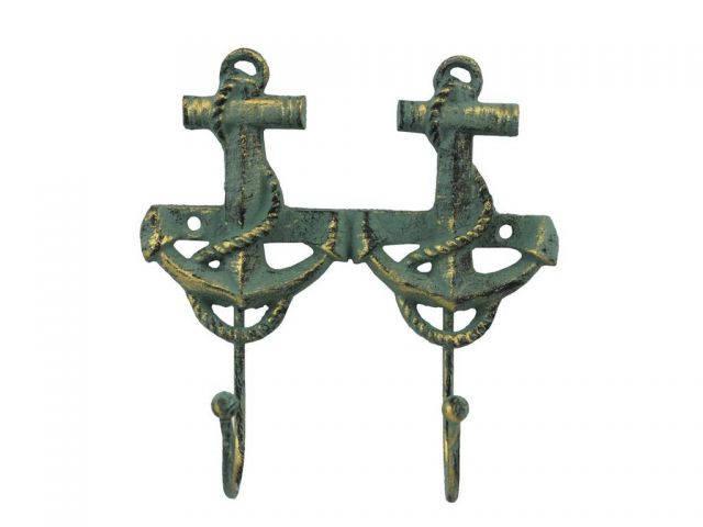 Antique Bronze Cast Iron Decorative Anchor Hooks 7