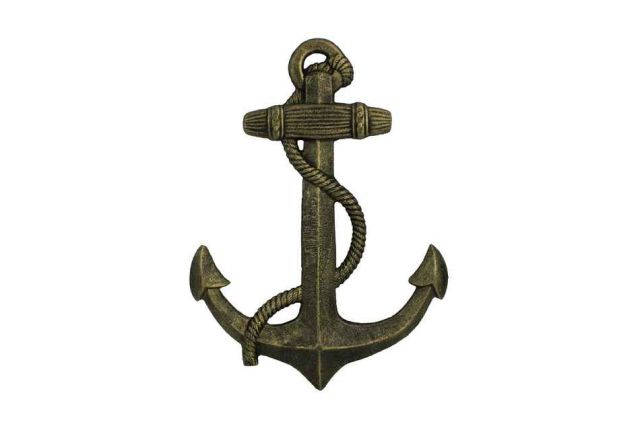 Antique Gold Cast Iron Anchor 17