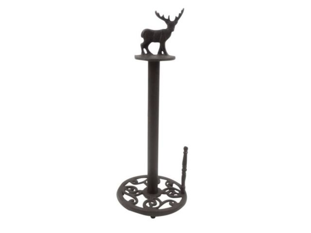 Cast Iron Moose Kitchen Paper Towel Holder 16