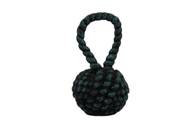 Seaworn Blue Cast Iron Sailors Knot Door Stopper 10