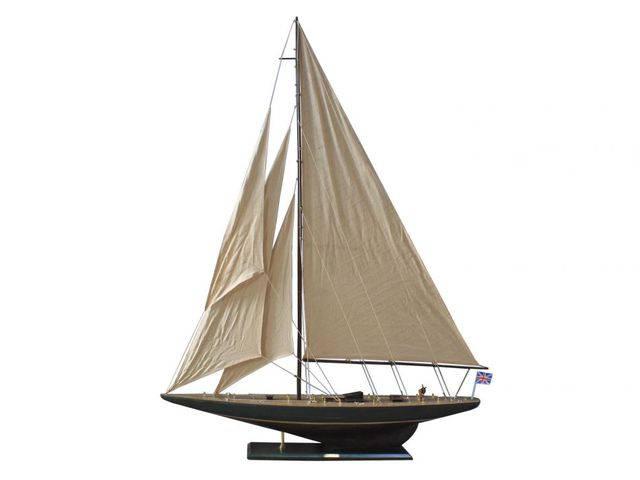 Wooden Rustic Endeavour Model Sailboat Decoration 60