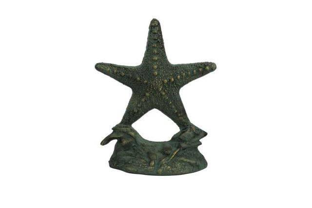 Antique Seaworn Bronze Cast Iron Starfish Door Stopper 11