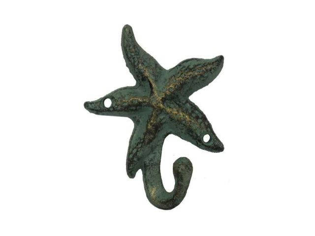 Antique Seaworn Bronze Cast Iron Starfish Hook 4