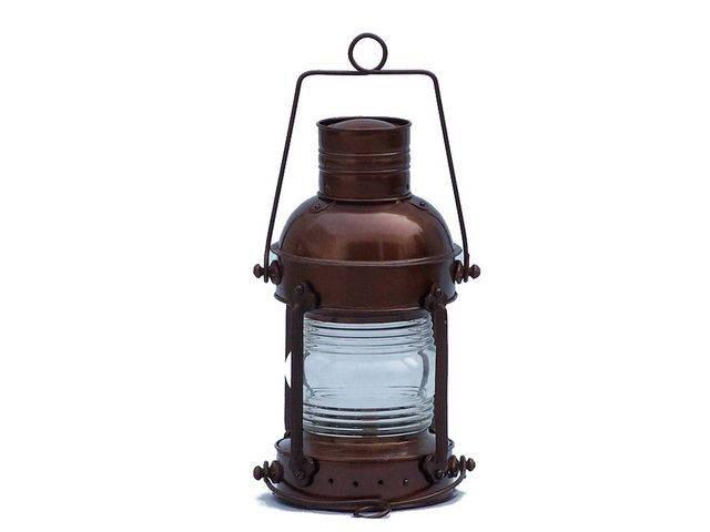 Antique Copper Anchormaster Oil Lantern 15