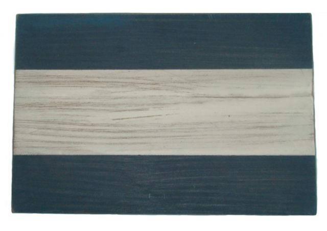 Letter J Rustic Wooden Nautical Alphabet Flag Decoration 16