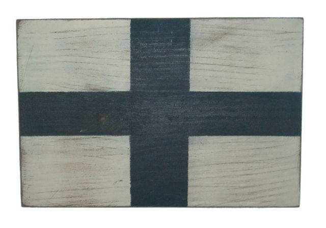 Letter X Rustic Wooden Nautical Alphabet Flag Decoration 16