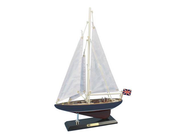 Wooden Endeavour Model Sailboat Decoration 16