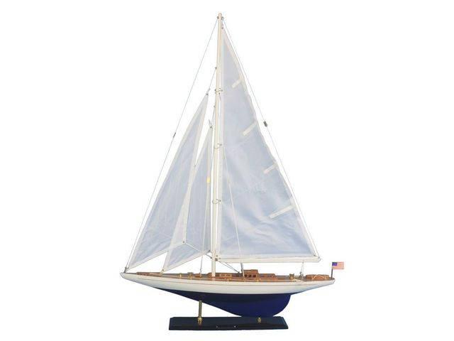 Wooden Enterprise Model Sailboat Decoration 35