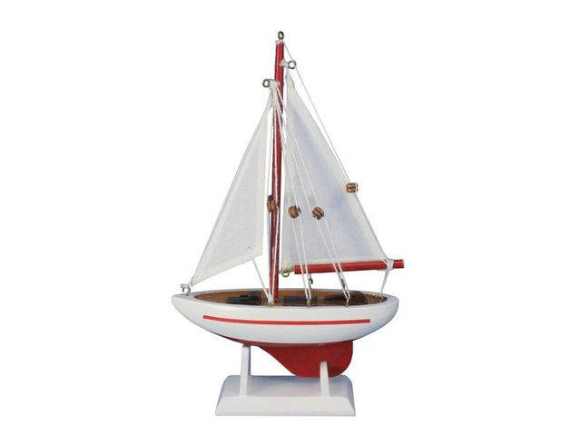 Wooden Ranger Model Sailboat Decoration 9
