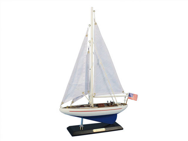 Wooden Enterprise Model Sailboat Decoration 16