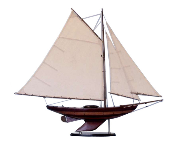 Wooden Old Ironsides Sloop Decoration 26