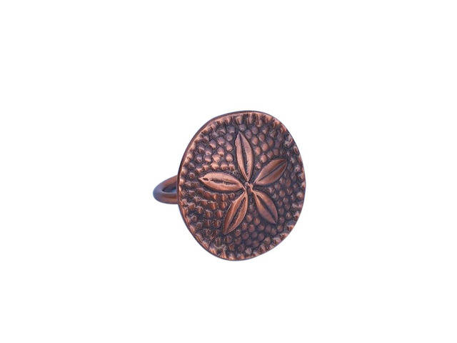 Antique Copper Sand Dollar Napkin Ring 2