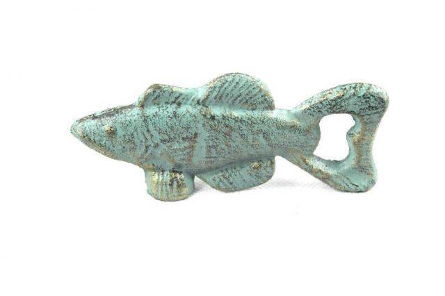Antique Bronze Cast Iron Fish Bottle Opener 5