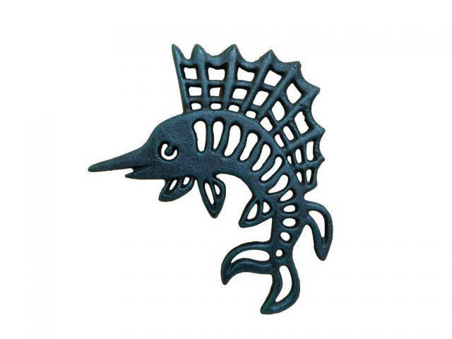 Seaworn Blue Cast Iron Marlin Trivet 8