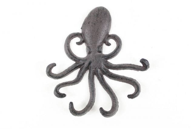 Cast Iron Wall Mounted Decorative Octopus Hooks 7