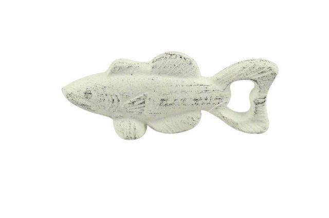 Whitewashed Cast Iron Fish Bottle Opener 5