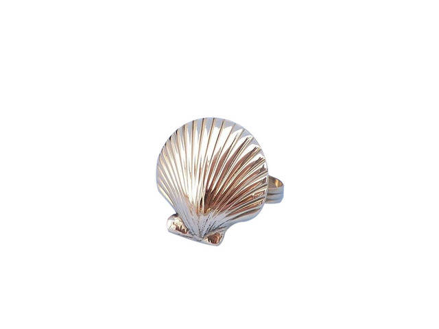 Brass Seashell Napkin Ring 2