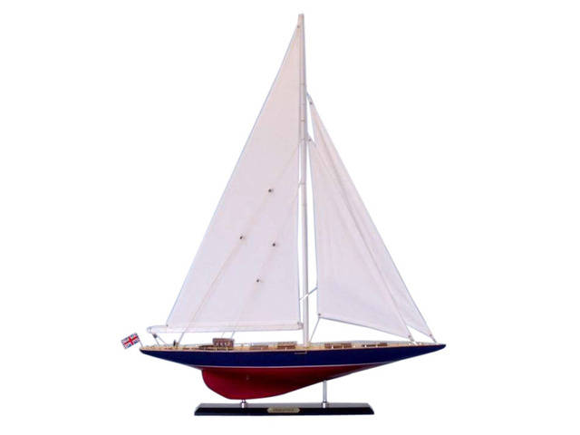 Wooden Endeavour Limited Model Sailboat Decoration 35