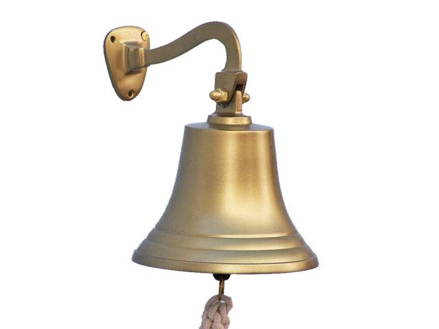 Antique Brass Hanging Ships Bell 11