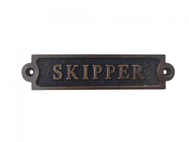Antique Copper Skipper Sign 6