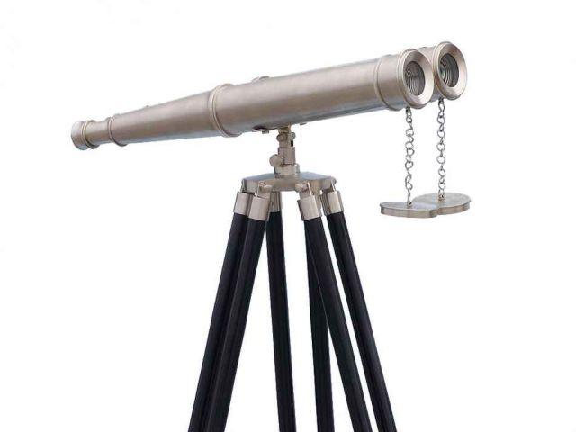 Floor Standing Admirals Brushed Nickel Binoculars 62