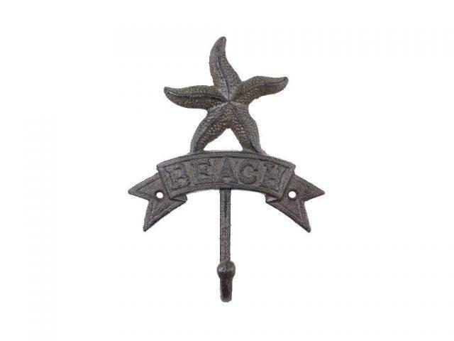 Cast Iron Starfish Beach Hook 8