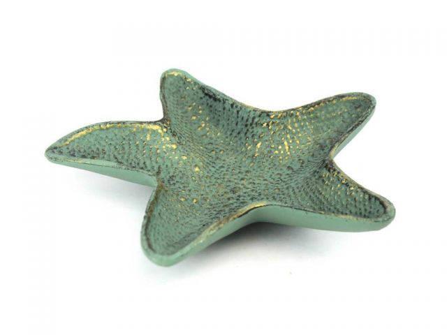 Antique Bronze Cast Iron Starfish Decorative Bowl 8