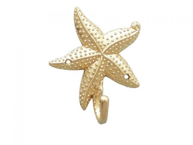 Gold Finish Starfish Hook 5
