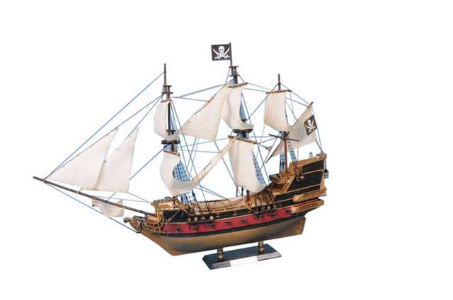 Calico Jackandapos;s The William Model Pirate Ship 36 - White Sails