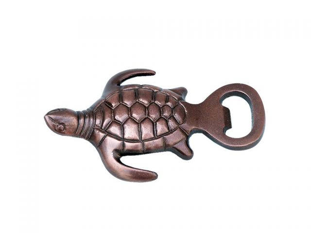 Antique Copper Turtle Bottle Opener 5
