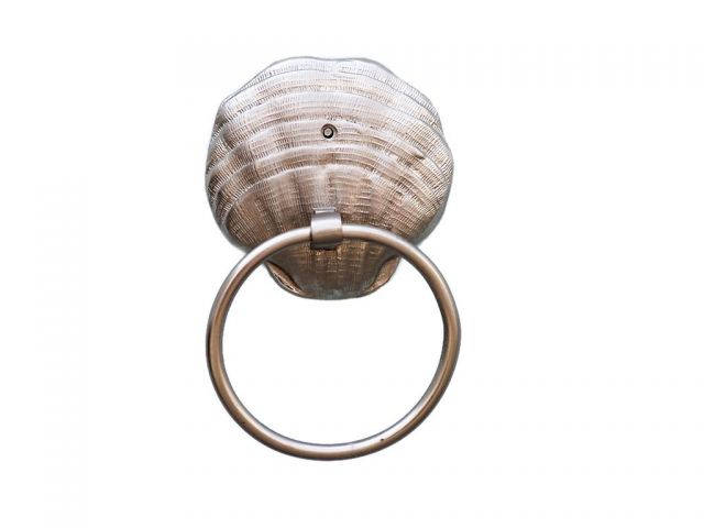 Silver Finish Seashell Towel Holder 9