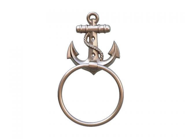 Silver Finish Anchor Towel Holder 9