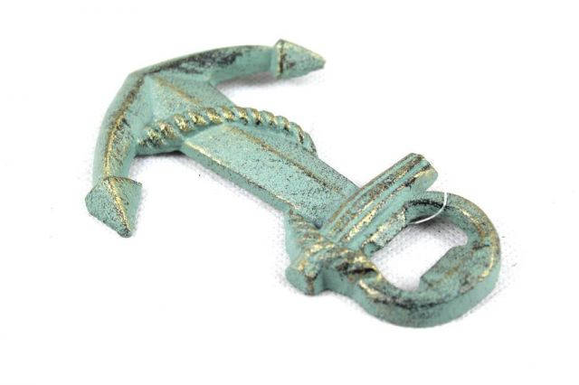 Antique Bronze Cast Iron Anchor Bottle Opener 5
