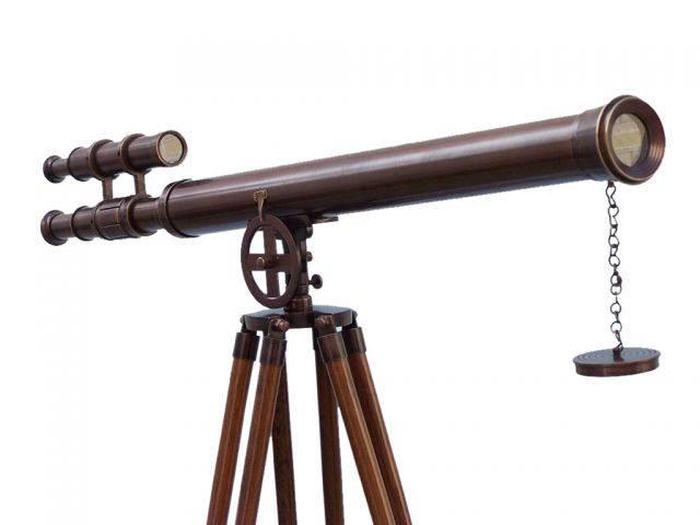 Floor Standing Bronzed Griffith Astro Telescope 65