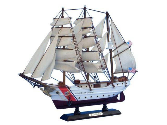 Wooden United States Coast Guard USCG Eagle Model Ship 15