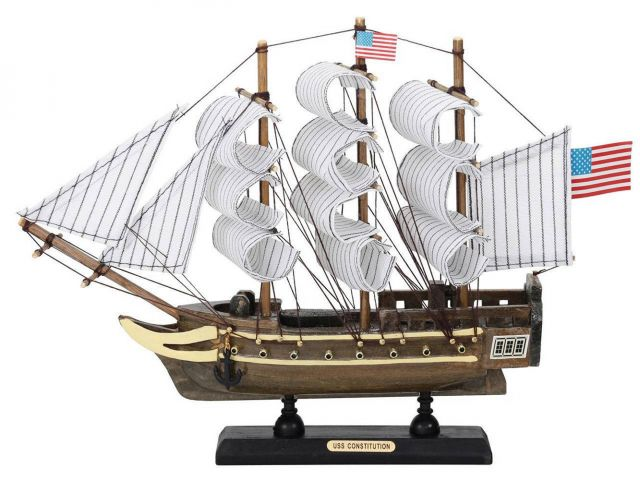 Wooden USS Constitution Tall Ship Model 12