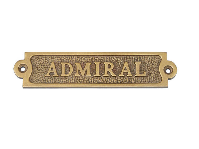 Antique Brass Admiral Sign 6