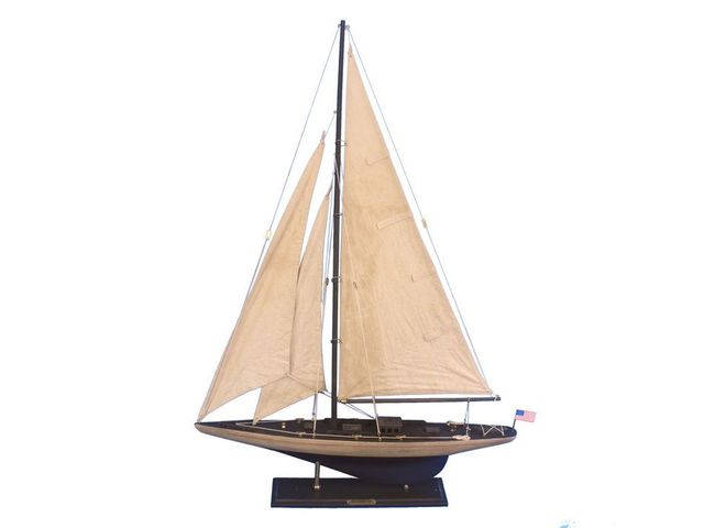 Wooden Vintage Enterprise Limited Model Sailboat Decoration 35