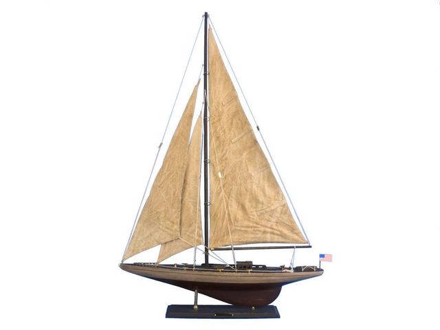 Wooden Vintage Ranger Limited Model Sailboat Decoration 35