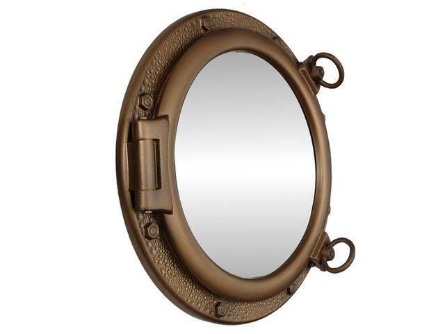 Bronzed Porthole Mirror 20
