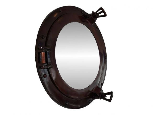 Antique Copper Decorative Ship Porthole Mirror 15