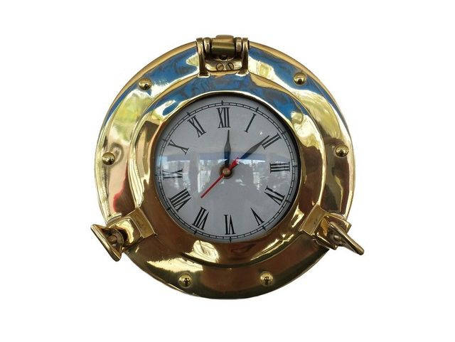 Brass Deluxe Class Porthole Clock 8