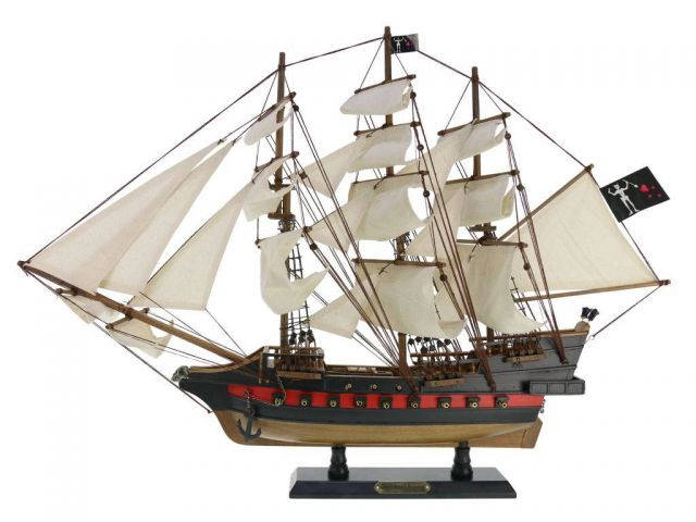 Wooden Blackbeards Queen Annes Revenge White Sails Limited Model Pirate Ship 26