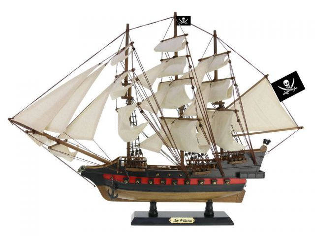 Wooden Calico Jacks The William White Sails Limited Model Pirate Ship 26
