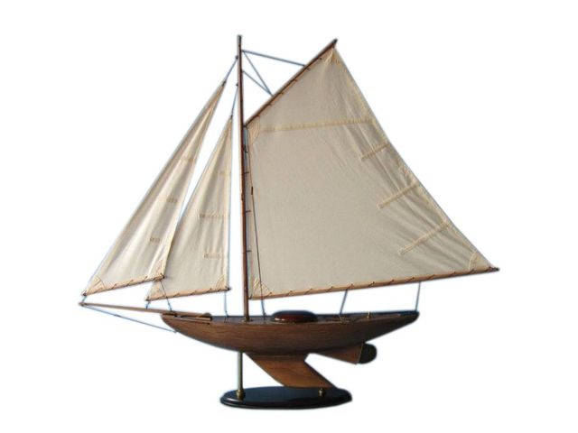 Wooden Lakeview Sloop Model Decoration 40