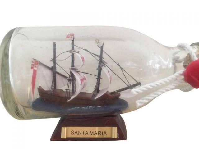 Buy Santa Maria Model Ship in a Glass Bottle 5in - Model Ships