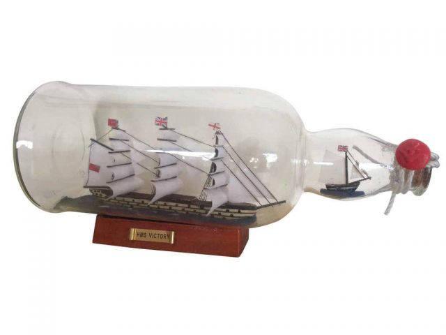 HMS Victory Model Ship in a Glass Bottle 11