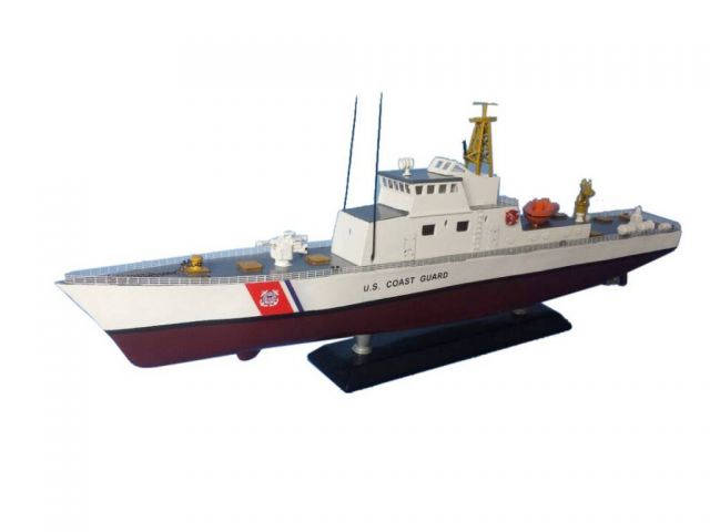 Wooden United States Coast Guard USCG Coastal Patrol Model Boat Limited 18