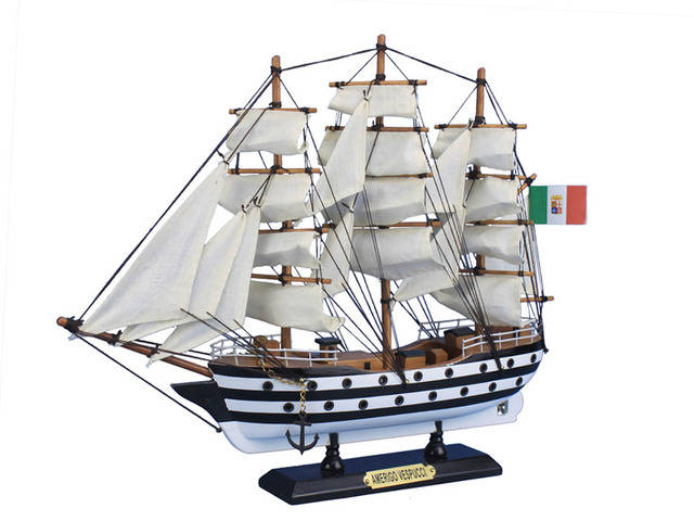 Wooden Amerigo Vespucci Tall Model Ship 15